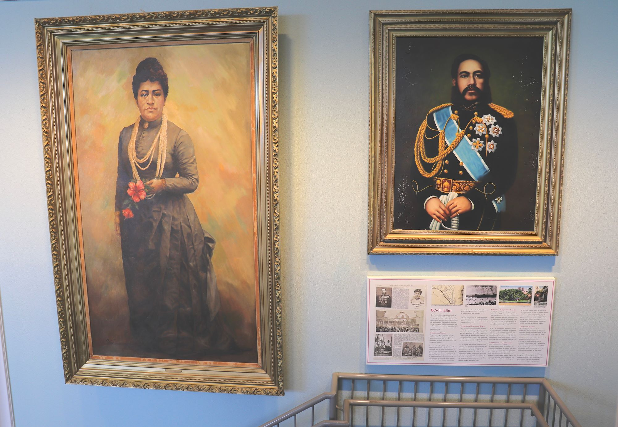 Image of art on wall at queen kapiolani hotel