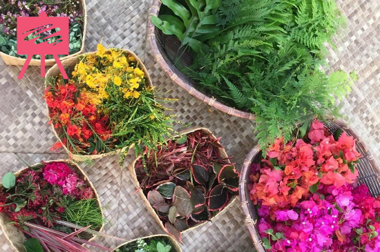 Flowers for Haku making