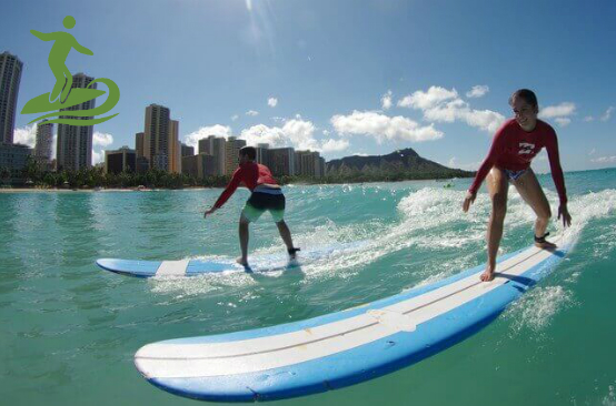 Hawaii surf lessons at Queen Kapiolani Hotel